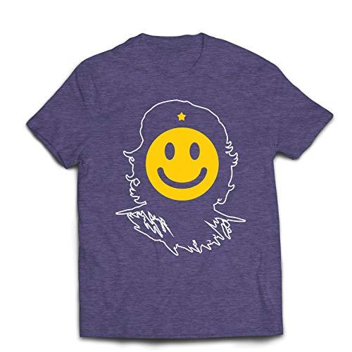 lepni.me Men's T-Shirt Anti-Communism, Political Protest Che Guevara Emoji (Medium Heather Grey Multi Color) ()
