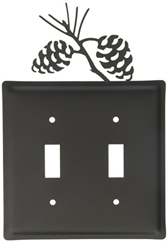 8 Inch Pinecone Double Switch Cover ()