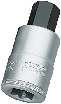 Gedore 21DIN74221Inch Square Screwdriver Bit, Hex, 19mm (1), 6181280