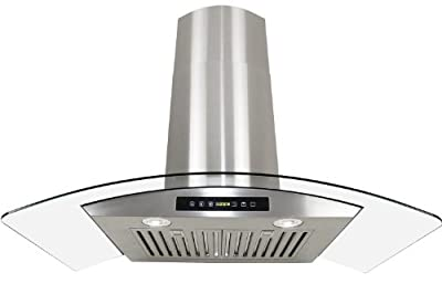 "Golden Vantage Stainless Steel 30"" Euro Style Wall Mount Range Hood LED TOUCH SCREEN W/Baffle Filter GV-H703C-B30"