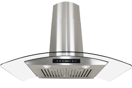 Golden Vantage Stainless Steel 30 Euro Style Wall Mount Range Hood LED TOUCH SCREEN W Baffle Filter GV-H703C-B30