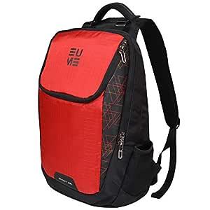 Eume Laptop Backpack For Unisex Red/Black 29Ltr