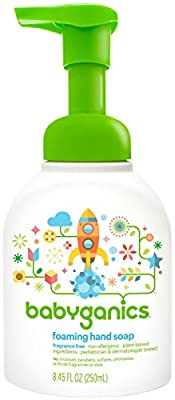 Babyganics Foaming Hand Soap - Fragrance Free - 8.45 oz