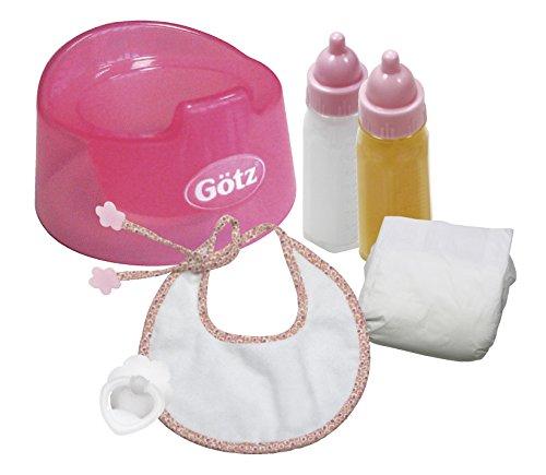 Götz 3401935 Babypuppen Basic Care Set - 7-teilige Grundausstattung ALS Zubehör-Set für Puppen der Größen S (30 - 33 cm) und M (42 - 46 cm) B004I3XHAK