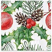 Servilletas de papel decoradas con diseño de navideño