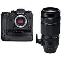Fujifilm X-H1 Mirrorless Camera Body, with Vertical Power Booster Grip Kit - With Fujifilm XF 100-400mm F4.5-5.6 R LM OIS WR Lens