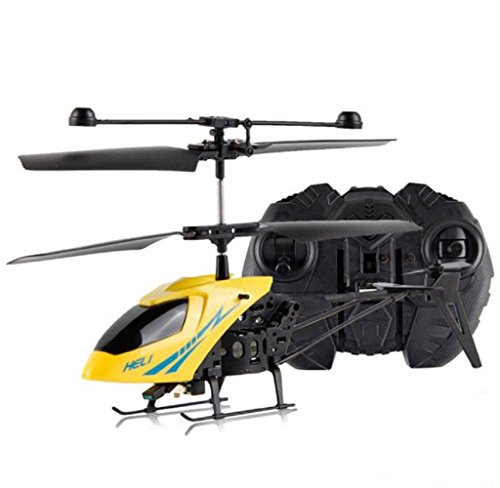 Air Rc Heli Radio (Singleluci, RC 901 2CH Mini rc helicopter Radio Remote Control Aircraft Micro 2 Channel Yellow)