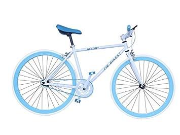 Helliot Bikes Fixie Soho H02 Bicicleta Urbana, Unisex Adulto, Blanco/Azul, Talla Única: Amazon.es: Deportes y aire libre