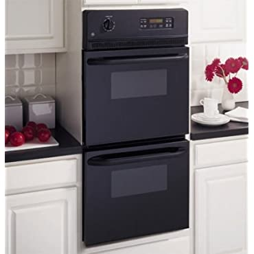 GE JRP28BJBB 24 Black Electric Double Wall Oven