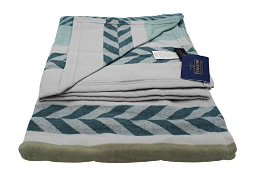 Pendleton Mojave Twill Sky Organic Cotton Throw Blanket, One Size (Cotton Blanket Pendleton)