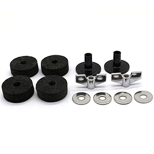 PCTC Drum Set Cymbals Cymbal Replacement Accessories Cymbal Stand Sleeves Cymbal Felts with Cymbal Washer and Base Wing Nuts Replacement