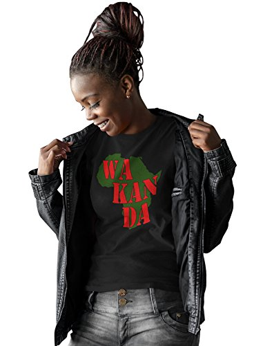 iApparel Wakanda Black Panther Women Black Shirt (Large)