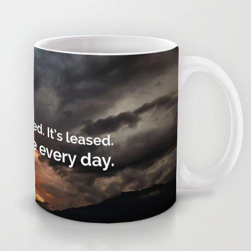 Cita Blanco tazas éxito No ¡¯ t propiedad. Que ¡¯ s arrendadas. Y Alquiler Se debe cada día. ¡ª J. J. W té tazas: Amazon.es: Hogar