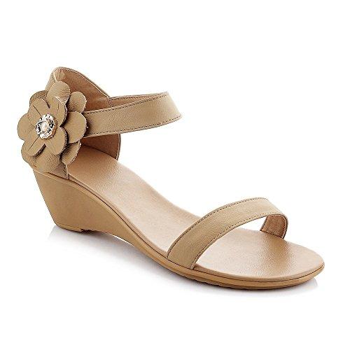 Mot Chaussures Télévision Femmes Ouvert Occasionnels De Sandales Bande Boucle Apricot Toe Pente xwXXrSOIq6