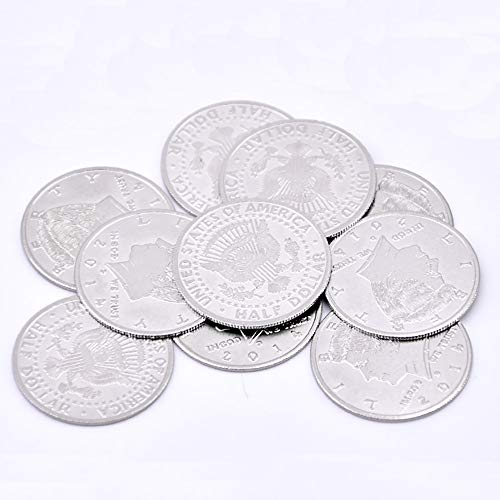 (Enjoyer Palming Coins Super Thin (Half Dollar Version) Magic Tricks Coin Magic Props Close Up Accessories Gimmick,10Pcs/Set)