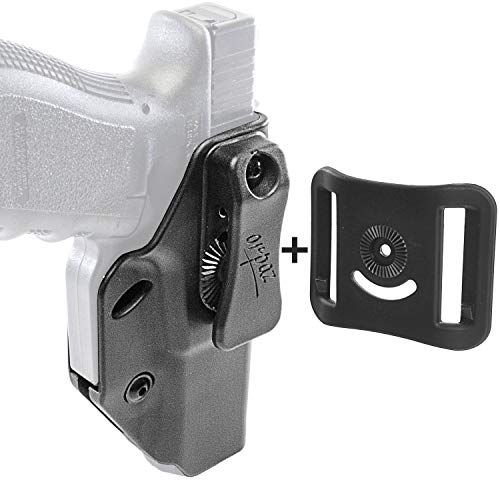 (Orpaz Glock 26 Concealed Carry Holster for Glock 19, 17, 22, 23, 26, 27, 34 & More (IWB Holster+OWB Belt Attachment, Left Handed Holster))