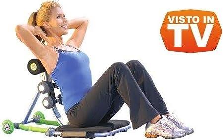 Tele Casa Shop TC3000 - Banco para Abdominales Total Core-Visto en TV, Unisex, Adulto, Verde, sin Talla