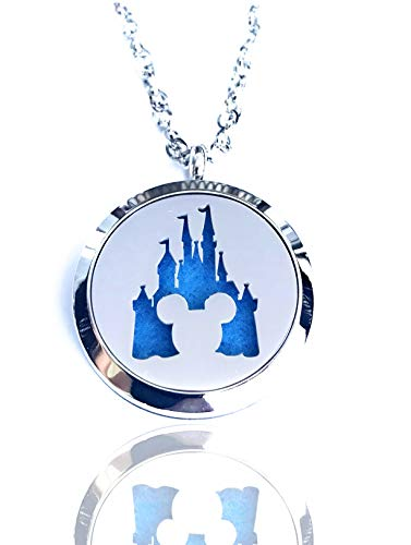 Mickey Mouse Aromatherapy Essential Oils Necklace Pendant