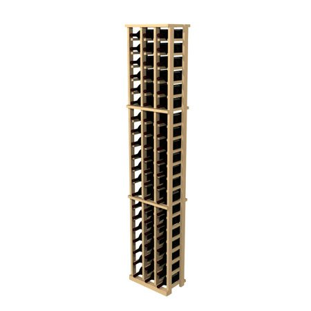 Wine Cellar Innovations Rustic Pine Wine Rack for 63 Wine Bottles, 3 Column, Unstained