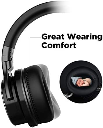 COWIN E7 PRO [Upgraded] Active Noise Cancelling Headphones Bluetooth Headphones with Microphone/Deep Bass Wireless Headphones Over Ear 30H Playtime for Travel/Work/TV/Computer/Cellphone – Black 41E0EW53acL