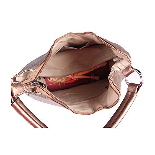 beautiful Para 33x30x12 Pardo Hombro couture Marrón bxhxt Al Obc Bolso Cm 35x26x13 Bronze Mujer Ca Only 4nYwPqzW5