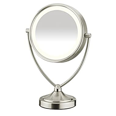 Conair Natural Daytime Lighted Round Mirror; 1x/10x Magnification