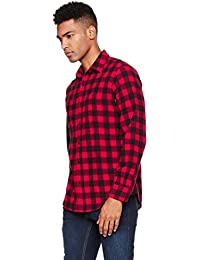 "<span class=""a-offscreen"">[Sponsored]</span>Men's Long Sleeve Regular Fit Patch Pockets Buffalo Check Plaid Brushed Cotton Shirt"