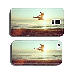 flying kick on the beach cell phone cover case Samsung S5