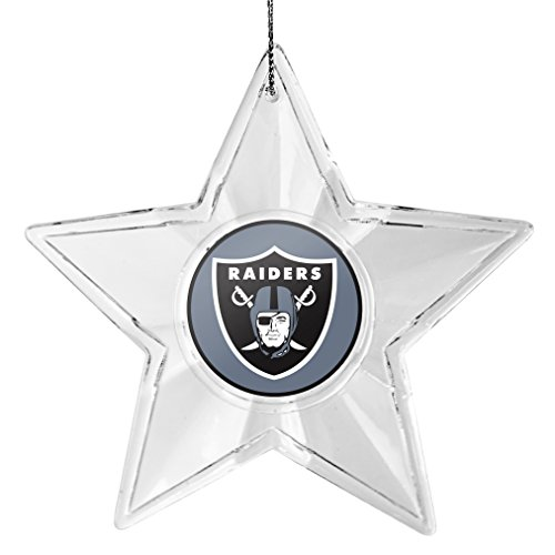 NFL Oakland Raiders Traditional Acrylic Star Ornament