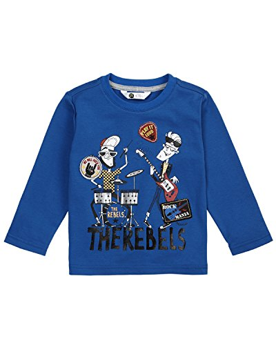 (Petit Lem Boys' Little Rock You L/s Knit T-Shirt, Blue, 5)