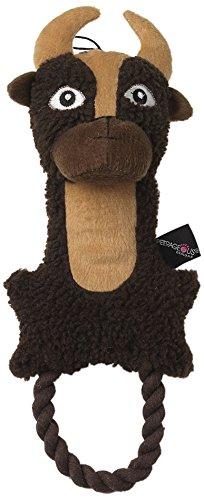 "Pet Rageous Rangerageous Bob The Buffalo 1 Dog Toy, 15"", Bro"