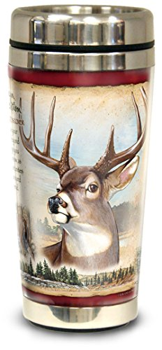 - American Expedition Wildlife Steel Travel Mug (Whitetail Deer)