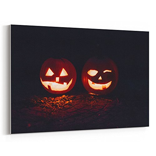 Westlake Art Canvas Print Wall Art - Halloween Jack on Canvas Stretched Gallery Wrap - Modern Picture Photography Artwork - Ready to Hang - (New York's Village Halloween Parade)