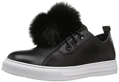 Dirty Laundry by Chinese Laundry Women's Fluffed up Leathe Fashion Sneaker, Black, 7.5 M US