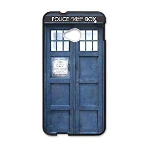 Blue police box Cell Phone Case for HTC One M7