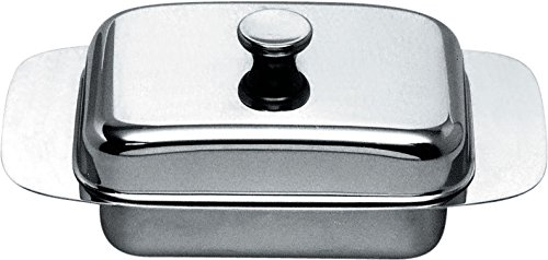 Alessi 137 Butter Dish, Silver by Alessi