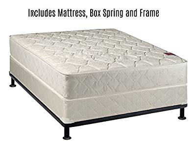 Spring Solution Mattress, 9-Inch Fully Assembled Orthopedic Back Support Mattress and Box Spring With Bed Frame,Hollywood Collection