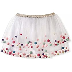 Girls' Tutu Skirt with Pom Poms Cat & Jack - White - X-Large (14/16)