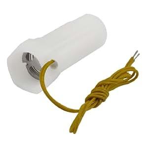 SODIAL(R) Interruptor Magnetico de Flujo de Agua Cascara de Plastico Blanco con Rosca Interior Exterior