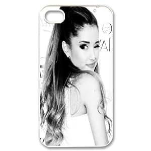 Unique Design -ZE-MIN PHONE CASE For Iphone 4 4S case cover -Singer Ariana Grande Pattern Pattern 6
