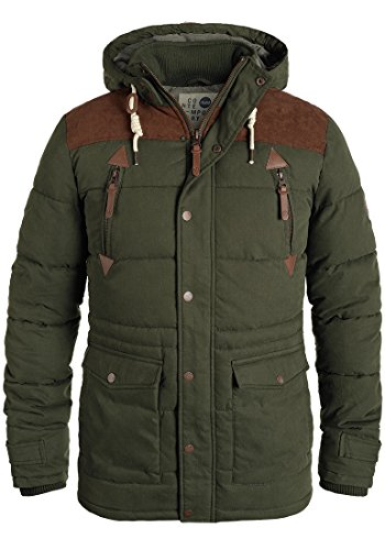 Invierno de Ivy Dry Hombre Green Chaqueta SOLID 3797 para Jacket Long AxWHqpwXwI