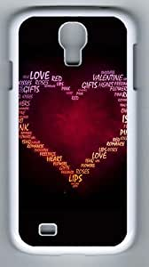 Samsung Galaxy S4 Case, Samsung Galaxy S4 Cases - Love Of My Heart Designer PC Case Cover For Samsung Galaxy S4 / SIV / I9500 - White