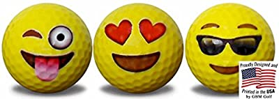 Emoji Golf Balls 3 pack #1