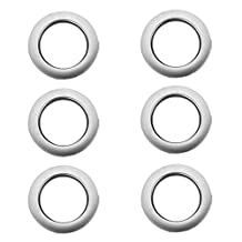 6pcs Round Shape Ring for Eyelet Curtain Silver