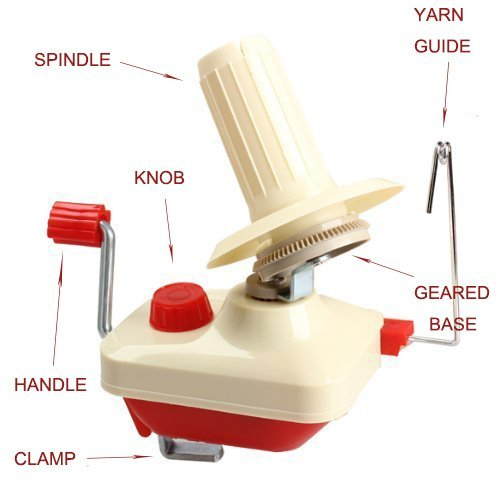 Yarn Ball Winder Hand Operated Manual Wool Winder Holder for Swift Yarn Fiber String Ball Knit Picks Yarn Ball Winder