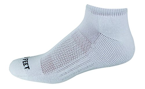 (Pro Feet Performance Multi-Sport Polypropylene Low Cut Socks, White, X-Large)
