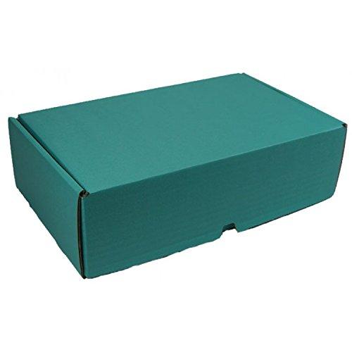 10 Stück VarioColors Naturpak Aufbewahrungsboxen A5 aqua blau Geschenkverpackung Versandschachtel 230x170x75mm