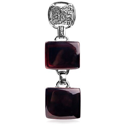 Cherry-Amber-Sterling-Silver-Crown-Cut-Medium-Pendant