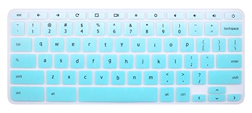 Silicone Keyboard Cover Skin for Acer Chromebook R11 CB3-131 CB5-132T, 2017 Acer Premium R11 Convertible, Acer Chromebook R13 CB5-312, Acer Chromebook 14 CB3-431 CP5-471 (Ombre Mint Green) (Acer Chromebook Cover)