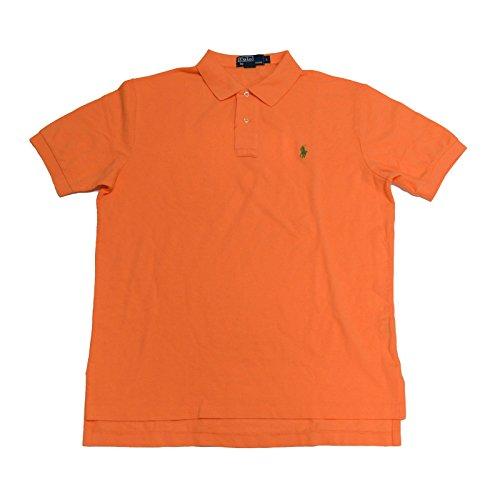 Polo Ralph Lauren Mens Classic Fit Mesh Polo Shirt (Large, Light - Orange Polo Lauren Ralph